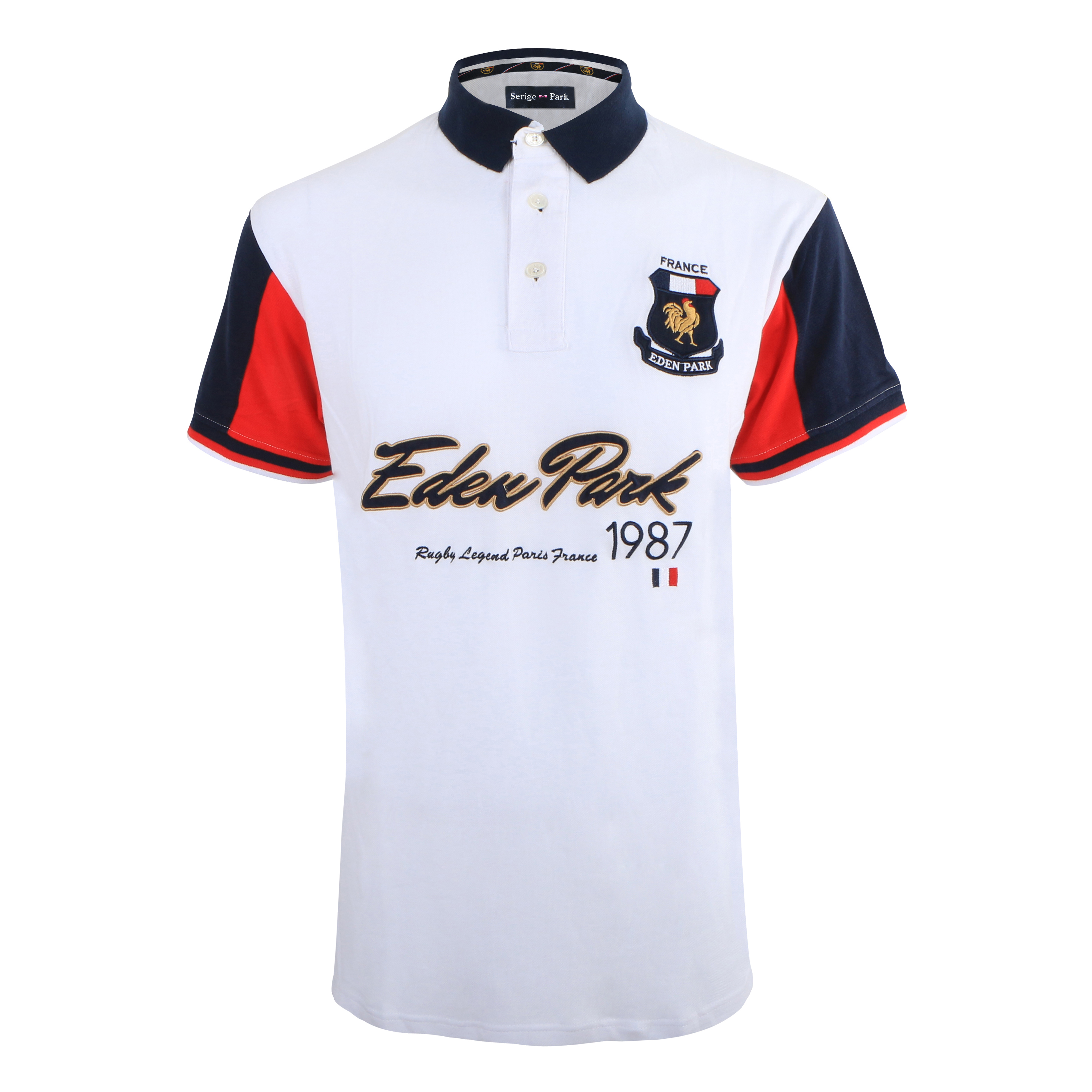 High Quality   Polo   EDEN PARK 1987 New mens Summer Short Sleeve Patchwork Mens   Polo   Shirt Superior Cotton MateriaL Anti-pilling