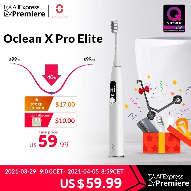 [Światowa premiera] Oclean X Pro Elite Sonic Mute elektryczna szczoteczka do zębów inteligentny elektryczny szczoteczka do zębów IPX7 szybkie ładowanie Upgrade dla X Pro