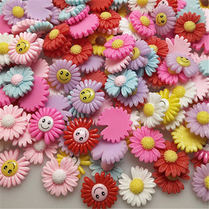 5/20Pcs Mixed Flower Resin Chrysanthemum Flatback Cabochons Embellishments For Scrapbooking DIY Hairwear/Phone Case Resin Crafts