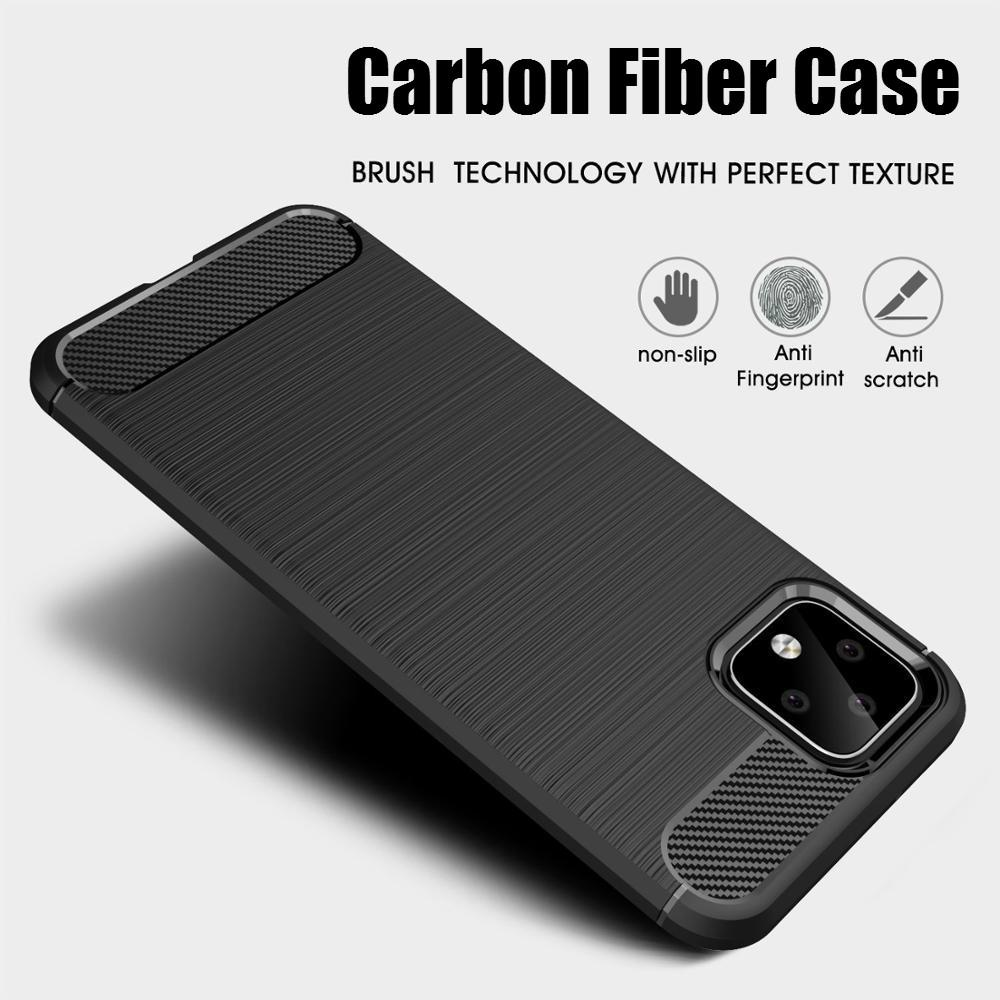 Carbon Fiber Case For Google Pixel 2 3 3A 4 XL Case Soft Cover For Google 3 3XL XL Lite 4XL 3XL Armor Brushed Shockproof Coque