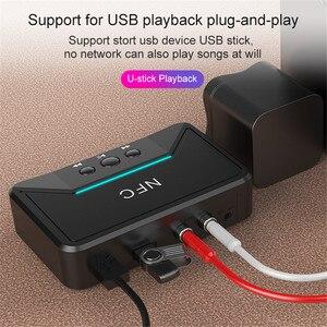 Image 5 - חם BT200 Bluetooth 5.0 אודיו מקלט NFC 3.5mm AUX RCA שקע Hifi אלחוטי מתאם אוטומטי לרכב אלחוטי אוטומטי מתאם