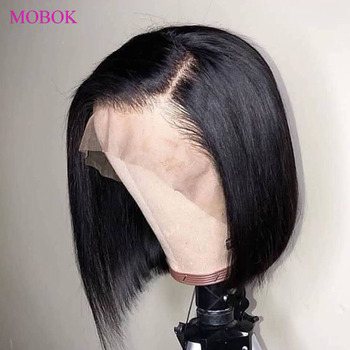 Mobok Straight Bob Wig 13X4 Lace Front Human Hair Wigs 150% Bob Lace Front Wigs Remy Brazilian Wig Pre Plucked With Baby Hair mobok straight lace front wig 13x4 lace front bob wigs 150