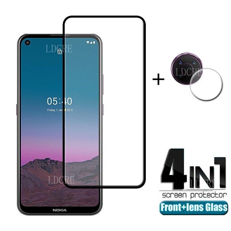 4 в 1 для Nokia 5,4 стекло для Nokia 5,4 закаленное стекло Защита для экрана Защитная пленка для камеры для Nokia 3,4 5,3 5,4 стекло для объектива
