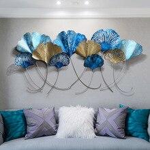 Креативные 3D скандинавские украшения дома 3D железные листья гинкго настенные подвесные гостиной фоновые стены в комнате decoracion habitacion