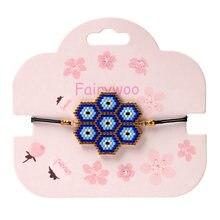 Fairywoo браслет для глаз delica браслеты с подвесками женские