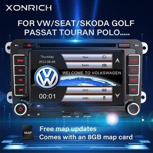 2 Din Car DVD Player For VW Volkswagen Passat b6 b7 amarok Skoda Octavia Superb 2 T5 Golf 5 Polo Seat leon Radio GPS Navigation(China)