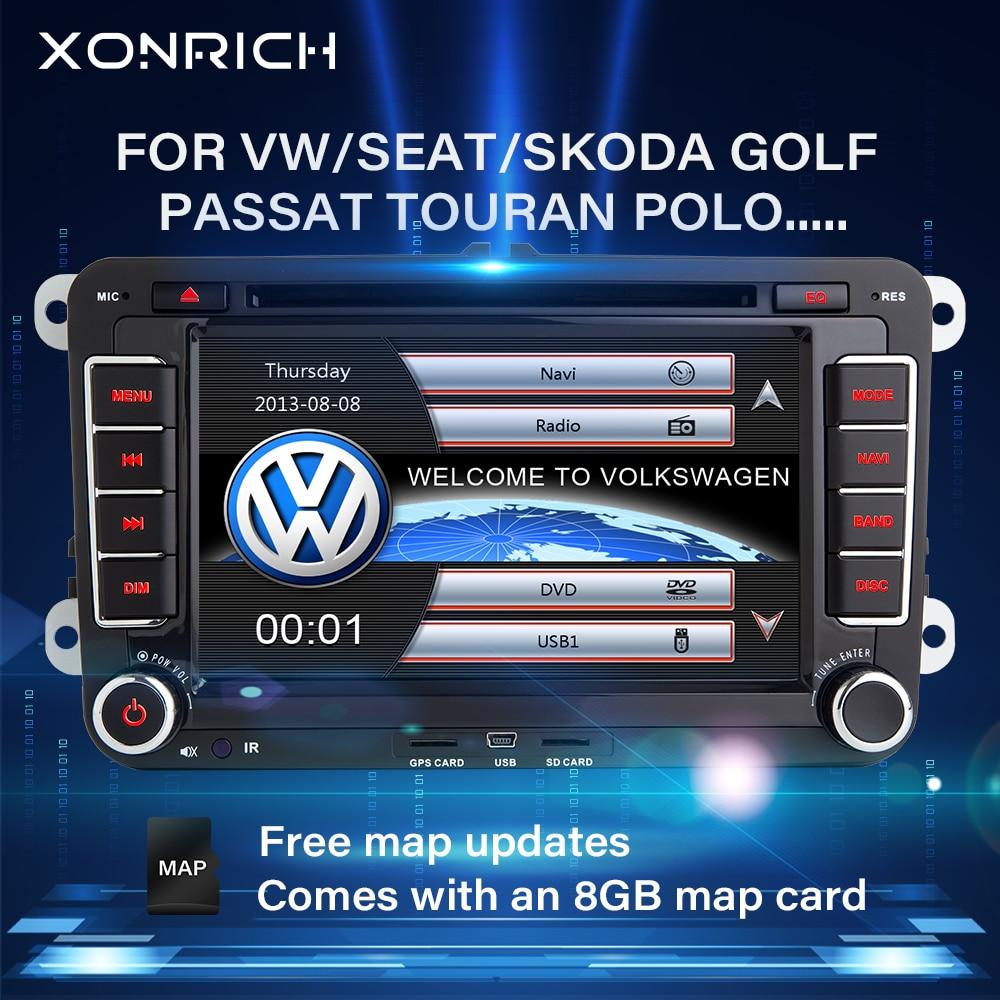 Lecteur DVD voiture 2 Din pour VW Volkswagen Passat b6 b7 amarok Skoda Octavia superbe 2 T5 Golf 5 Polo Seat leon Radio GPS Navigation