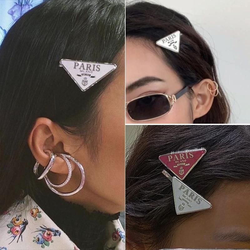 1pcs Woman Triangle Paris Hair Clip