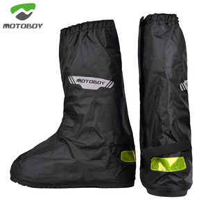 MOTOBOY Waterproof and rainproof motorcycle riding, night reflective gear shifting wear-resistant men's high-end rain shoe cover