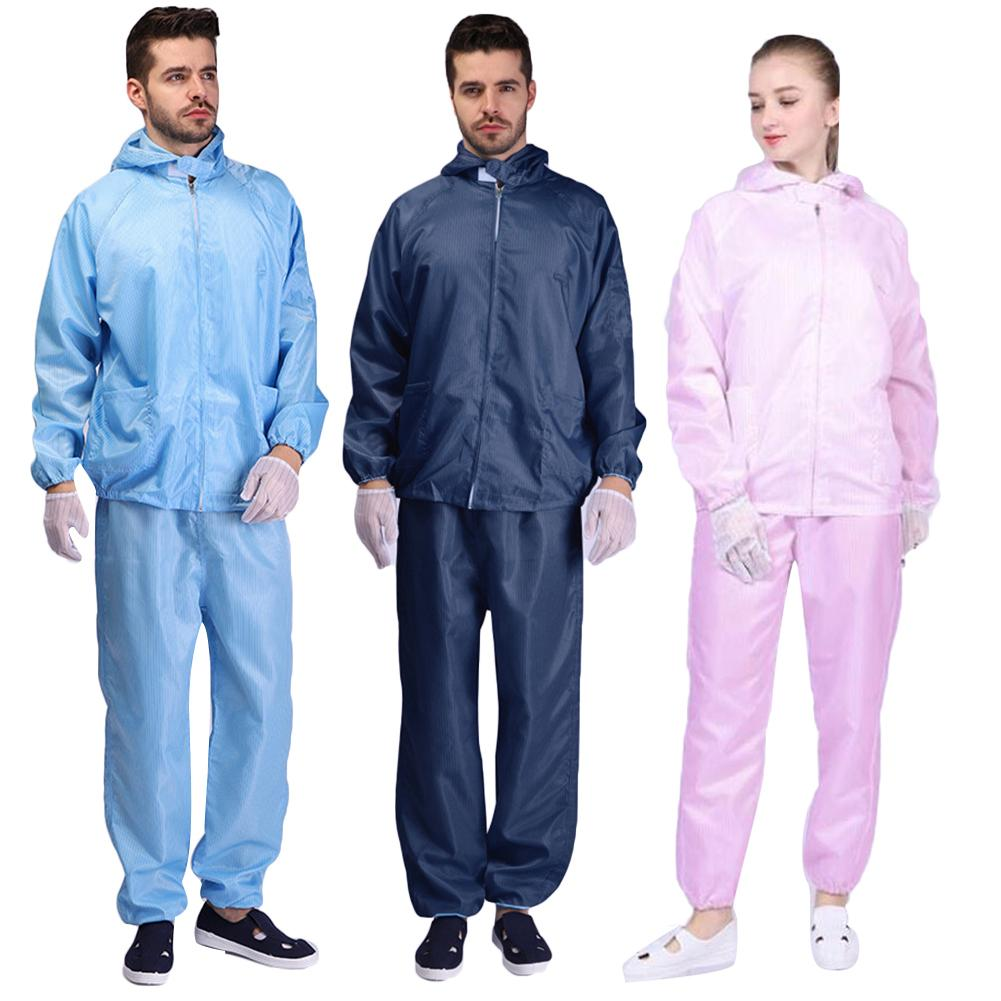 White Two Piece Outfits Hazmat Suit Protection Protective Disposable Clothing Disposable Factory Hospital Safety Clothing