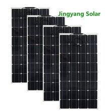 Панель солнечных батарей 400 Вт, 4 шт., панель солнечных батарей 100 Вт, 200 Вт, 300 Вт, 600 Вт, тонкая пленка, гибкая панель солнечных батарей, монокристаллическая солнечная ячейка, автомобиль/RV/лодка