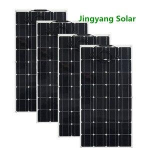 Image 1 - 400W solar panel 4PCS of 100w panel solar 200W 300W 600W thin film flexible solar panel Monocrystalline Solar Cell Car/RV/boat