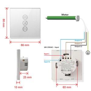 Image 5 - Tuya akıllı yaşam WiFi perde anahtarı gümüş elektrik motorlu perde kör panjur Google ev Alexa ses kontrolü