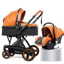 High Landscape Baby Stroller 3 in 1 Luxury Hot Mom Stroller Travel Pram