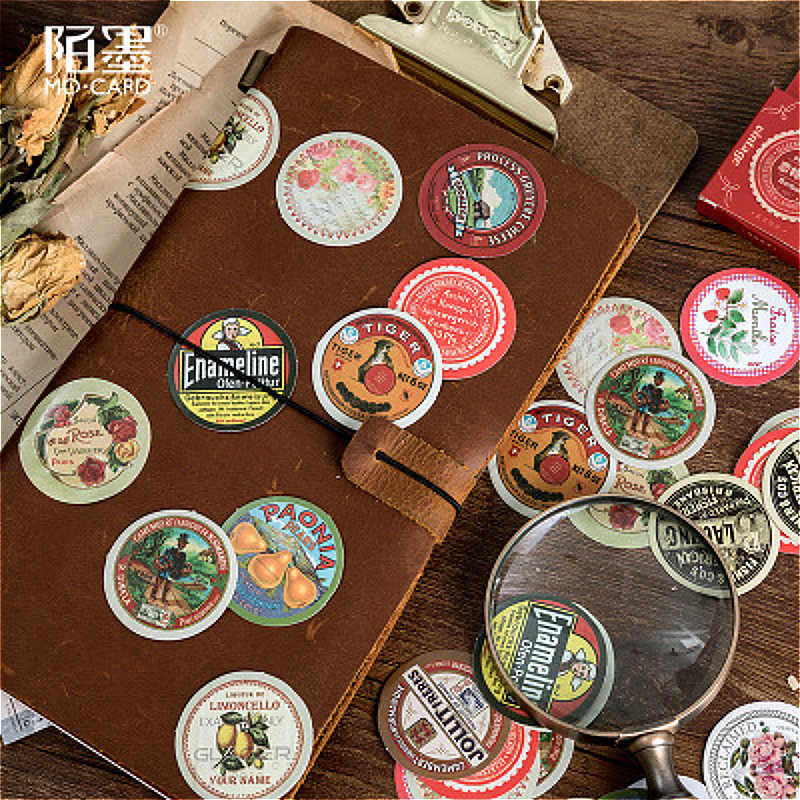 45 Uds. Encantadoras pegatinas de cuaderno de tiempo fetiche creativo práctico reemplazable pegatinas papelería regalo diario de viajero