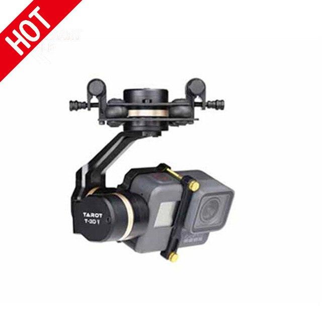 Pas en stock Tarot 3D V métal 3 axes PTZ cardan pour Gopro Hero 5 caméra Stablizer TL3T05 FPV Drone système Action Sport 20% de réduction