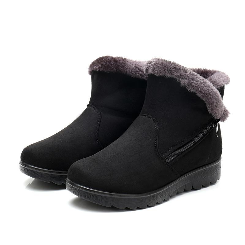 Snurulan inveno de felpa corta caliente botas