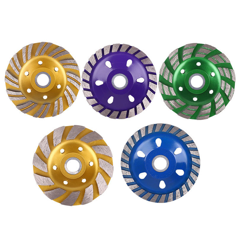 1 Pcs Diamond Grinding Sheet Wheel Concrete Cup Disc Masonry Stone Tool 100mm VJ-Drop