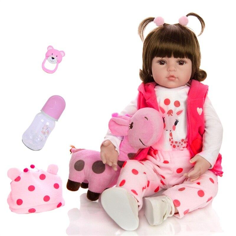 NEW Reborn Baby Doll 60cm Toddler Newborn Babies Dolls Lifelike Realistic Handmade Bonecas Toys For Kids Christmas Gifts Doll
