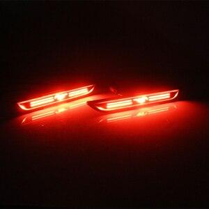 Image 5 - Smoked Lens Red LED 48 SMD 3D Mustang Design Rear Bumper Side Marker Lights For 2015 2018 Ford Mustang Fender Side Marker Lights