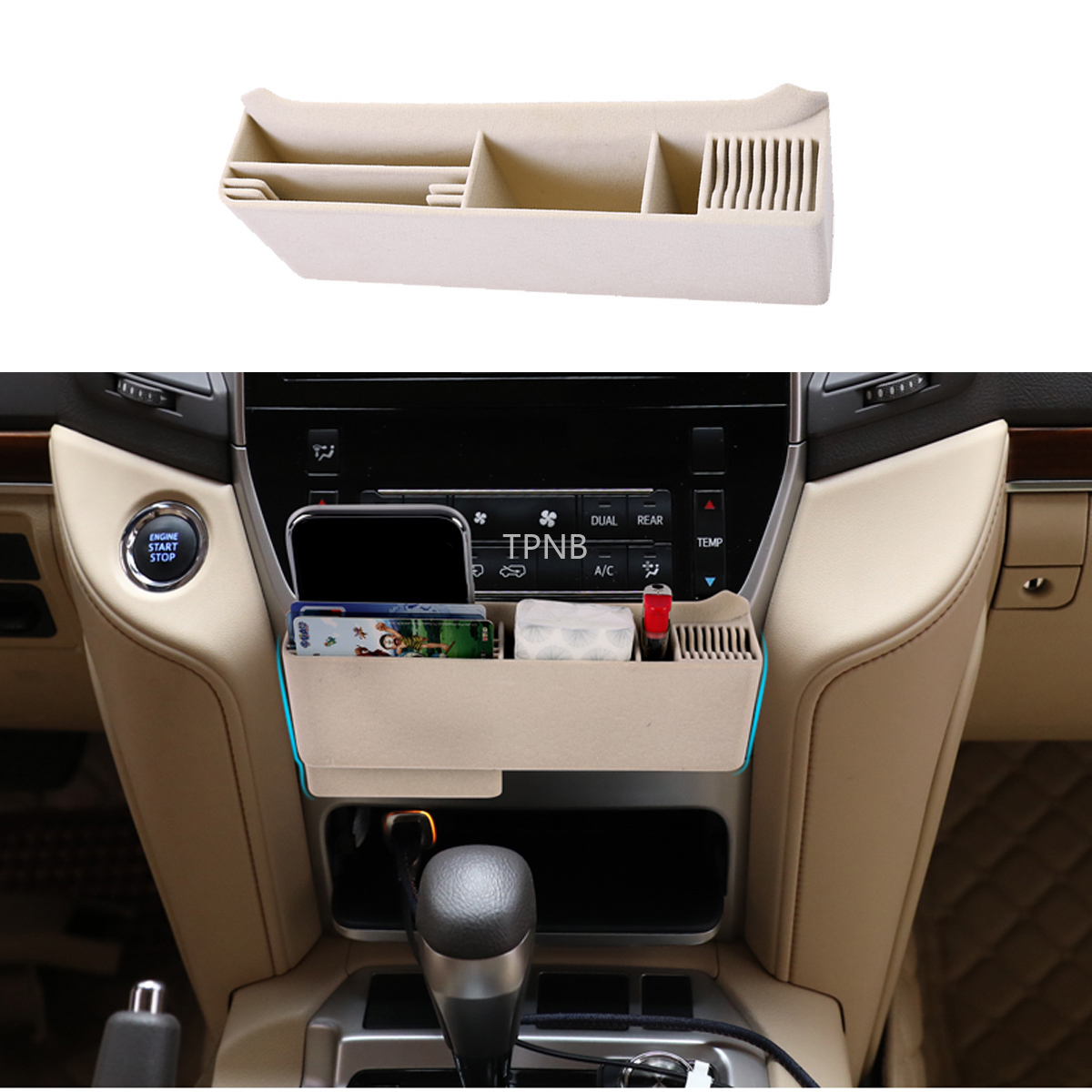 Car Central Control Storage Box <font><b>d</b></font> Frame for Toyota Land Cruiser 200 2016 2017 2018 <font><b>2019</b></font> Accessories image
