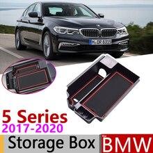 Dla BMW serii 5 G30 520 530 540 520d 525d 540d G31 M5 M moc 2017 2018 2019 podłokietnik ze schowkiem do przechowywania samochodu organizer akcesoria