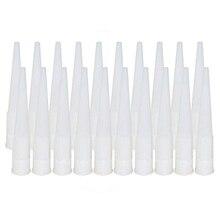 20pcs Universal Caulking Nozzle Glass Glue Tip Mouth Home Improvement Construction Tools