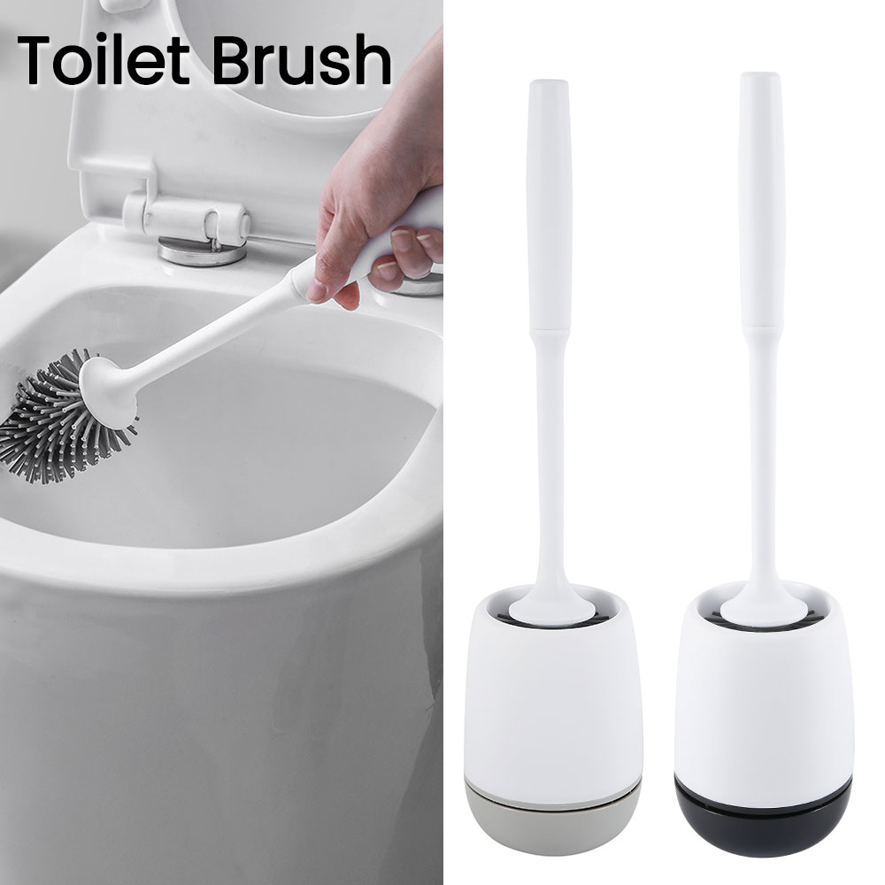 Toilet Brush Holders TPR Toilet Brush Head Holder Toilet Wall-mounted Or Floor-Standing Household Cleaning Bathroom Accessories