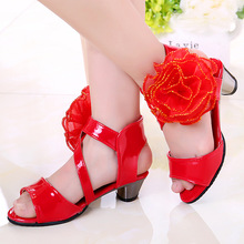 Kids Girls Shoes Summer Wedges Party Shoes Big Girls Sandals Children Flowers Princess Shoes High Heel Sandals 3 4 5 6 7-14Years