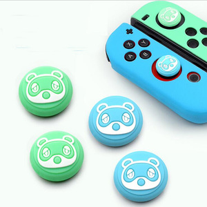 Image 3 - Thumb Stick Grip Cap Animal Crossing Joystick Cover Skin For Nintendo Switch NS Joy Con Nintend Joycon Controller Silicone Case