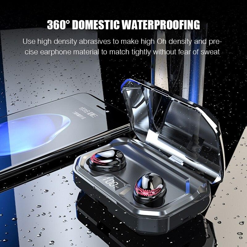 Auriculares Bluetooth 5,0 TWS auriculares deportivos auténticos auriculares inalámbricos con Control táctil 8D auriculares estéreo impermeables para teléfonos - 6
