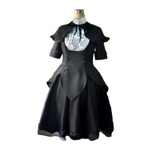Anime Puella Magi Madoka Magica Cos Akemi Homura Cosplay Costume Cartoon Halloween Girls Black Dress Set Halloween Costumes(China)