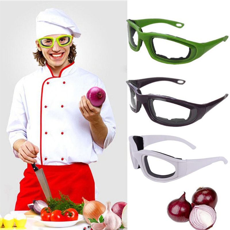 Kitchen Protection Cut Onion Only Glasses Stab-Resistant Eye Sponge Compressive Sports Onion Glasses 4-Color