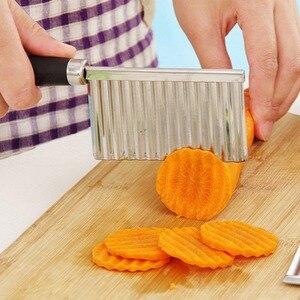 Multifunktionale Kartoffel Wellig Eingefasst Messer Edelstahl Küche Gadget Gemüse Obst Schneiden Schäler Kochen Werkzeug Zubehör