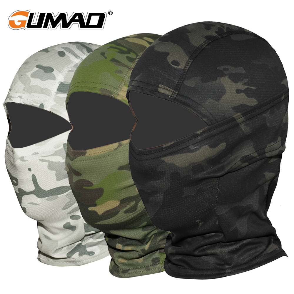 Helmet-Liner Multicam Airsoft-Cap Balaclava Wargame Cycling Army-Bike Full-Face-Mask