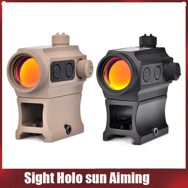 Red Dot Gun Scope Optic Sight Holosun Aiming Device QD High Rail Riser Mount Kill Flash Filter combo