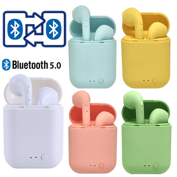 Auriculares TWS Mini-2, inalámbricos por Bluetooth 5,0, auriculares mate con cargador para xiaomi y iphone