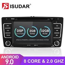 Isudar 2 Din Android 9 Radio samochodowe dla SKODA/Octavia 2009 2013 samochodowy odtwarzacz DVD multimedialny GPS Octa Core RAM 2GB ROM 32GB kamera DSP DVR
