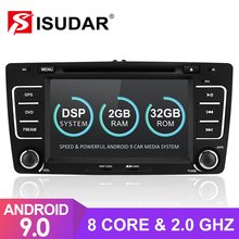 Isudar rádio automotivo, rádio automotivo com android 9 para skoda/octavia, 2009 2013, dvd multimídia, gps, octa core ram 2gb rom 32gb câmera dsp dvr