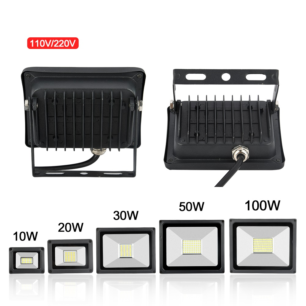 Led Flood Light 100W 30W 50W 10W 20W Outdoor Spotlight Floodlight 220V 110V Wall Lamp Reflector IP65 Waterproof Garden Lighting