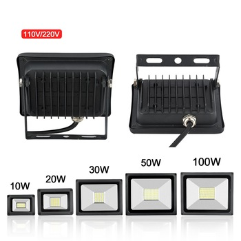 Led Flood Light 100W 30W 50W 10W 20W Outdoor Spotlight Floodlight 220V 110V Wall Lamp Reflector IP65 Waterproof Garden Lighting
