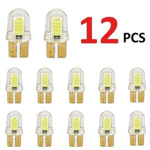 Светодиодный фонарь T10 W5W 194 168 W5W COB 8SMD для номерного знака, стояночный фонарь, автомобильная клиновидная лампа, Кварцевая автомобильная ламп...