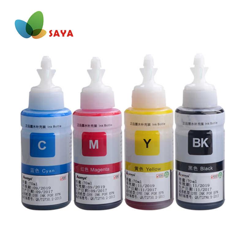 Pewarna Tinta Isi Ulang Kit Untuk Epson L100 L110 L120 L132 L210 L222 L300 L312 L355 L350 L362 L366 L550 L555 l566 Printer Gratis Pengiriman