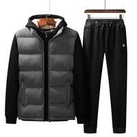 Autumn Winter Casual Sportswear Men's Sporting Suits Cashmere Hoodies + Pants + Vests 3 Piece Set Mens Tracksuit Oversized L 7XL