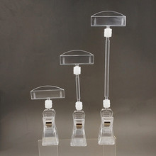 Clear POP Clips Holders Plastic Sign Paper Card Display Price Label Tag Promotion Signage In Supermarket Retails 20pcs