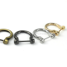 1pcs Metal Carabiner D Bow Shackle Fob Key Ring Keychain Hook Screw Joint Connector Buckle Lightgpold/ Silver/ Gun Black/ Bronze