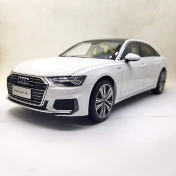 1:18 Diecast Model for Audi A6L 2019 White Sedan Alloy Toy Car Miniature Collection Gifts A6 S6 image