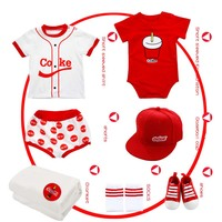0 1 year Newborn Summer Clothing Suit Gift Box Cotton Baby Suit Cola Print Baby Girls Boys Clothing Gift Box Set