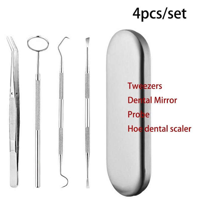 Стоматологическое зеркало из нержавеющей стали набор стоматологических инструментов отбеливание зубов рот зеркало Пинцет стоматологичес...