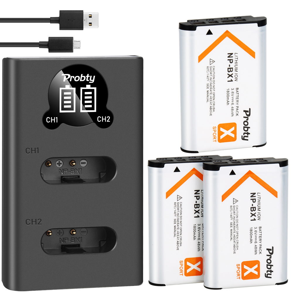 For Sony NP BX1 NP-BX1 Battery + Charger For Sony DSC-RX100 X3000 IV HX300 WX300 HDR-AS15 X3000R MV1 AS30V HDR-AS300